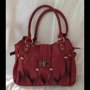 Red Handbag PU Leather new
