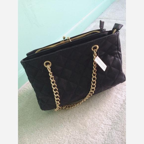 19% off Forever 21 Handbags - Black Quilted F21 Shoulder ...