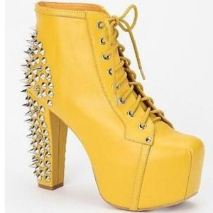 Jeffrey Campbell spiked Yellow Litas
