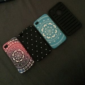 iPhone 4/4s cases- All are very soft to the touch.