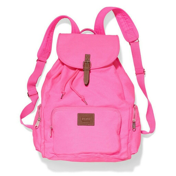 63% off Victoria's Secret Accessories - Hot pink VS backpack from ...