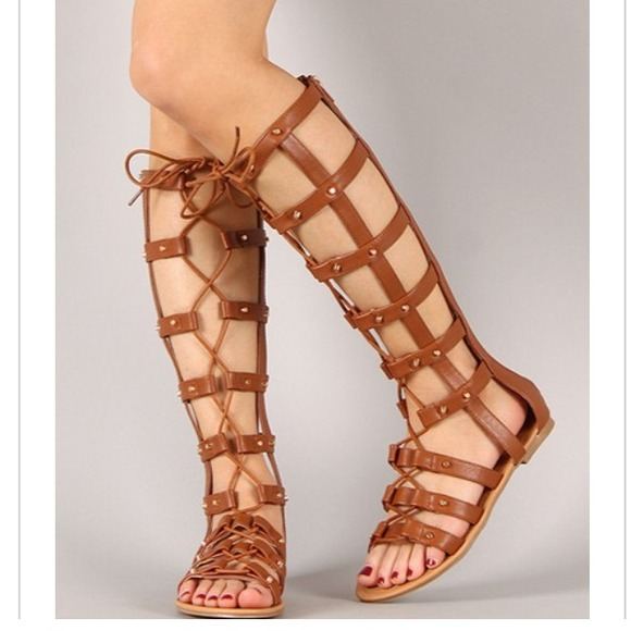 Shoes Tall Flat Gladiator Lace Up Sandals Poshmark