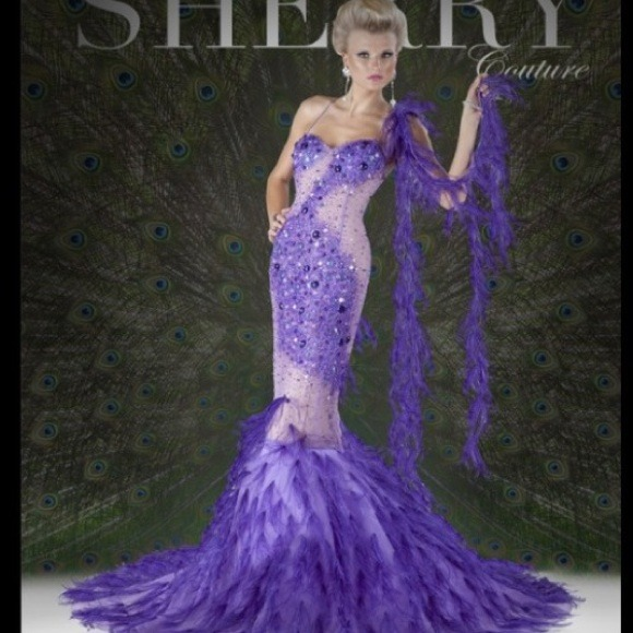 Mnm Dresses Couture 6113 Sequin Feather Detachable Bottom Poshmark
