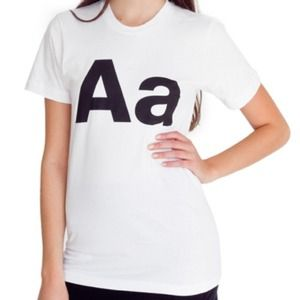 K-pop Favorite American Apparel Alphabet T-Shirt