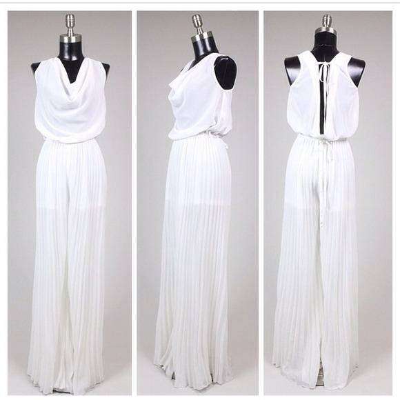 Dresses White Formal Romper Jumpsuit Poshmark