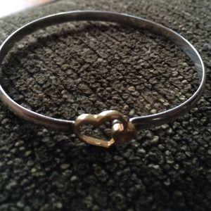 Jewelry - Sterling silver and 14k gold bracelet.