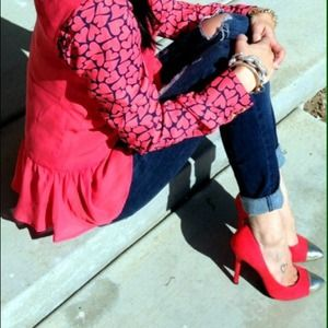 Mossimo Supply Co. Shoes - NWOT Target Red w/gold cap toe pumps