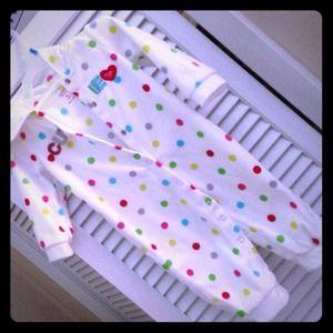 Fleece Baby footless onsie with hood