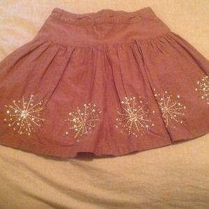GAP Dresses & Skirts - Brown with gold skirt