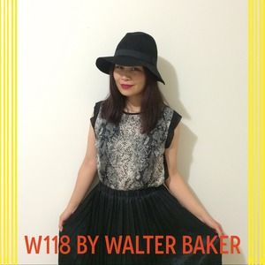 W118 by Walter Baker Tops - New W118 Snakeskin top with sheer back