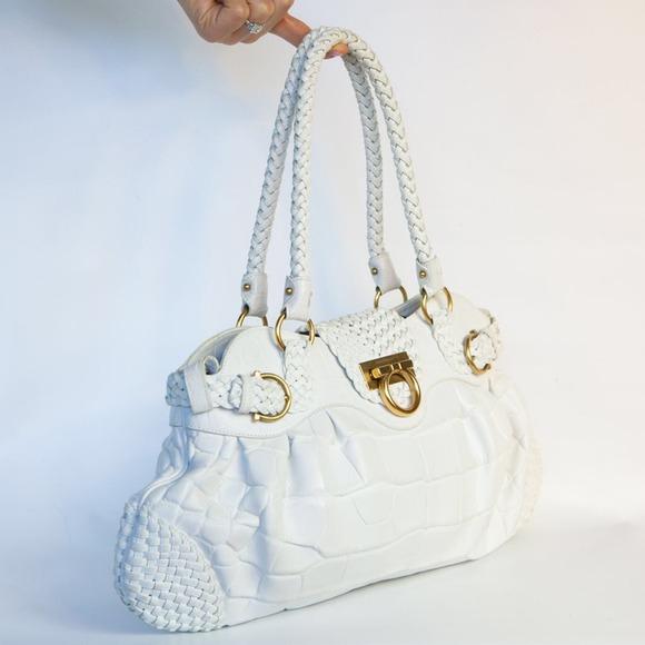 62a60b4d09 Ferragamo Handbags - 🌹Ferragamo Croc Marisa Satchel