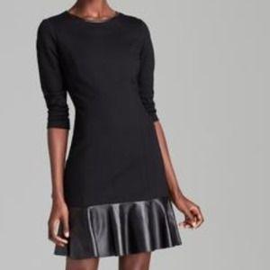 AQUA Dress - Leather Drop Waist