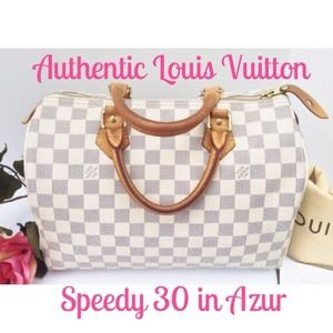 UNAVAILABLELouis Vuitton Speedy 30 in Azur