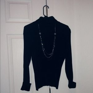 Sweaters - Black turtle neck sweater. Necklace not included.