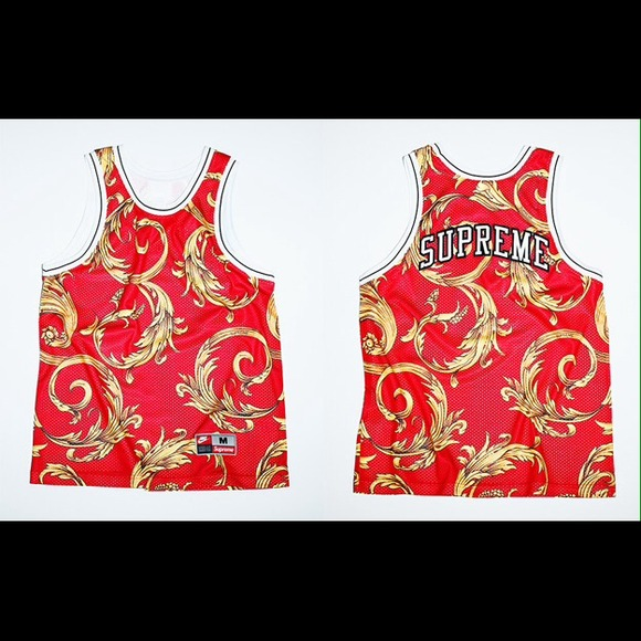 Nike x Supreme Foamposite Basketball Jersey Medium 293dfc68a