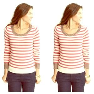 Banana Republic Sweaters - Banana Republic Metallic Striped Pullover Sweater