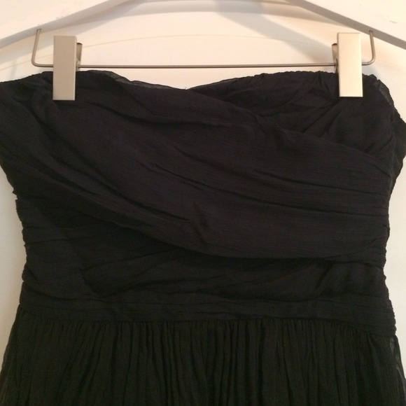 J. Crew Dresses - J. Crew navy chiffon strapless dress