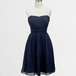 J. Crew Dresses & Skirts - J. Crew navy chiffon strapless dress
