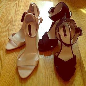 Zara Shoes - Nude & black Zara heels (bundled by request)