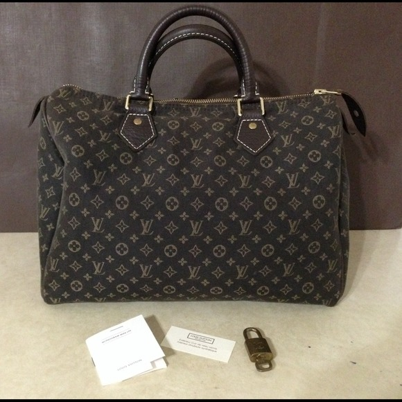 099299cfacdd Louis Vuitton Handbags - Authentic Louis Vuitton Mini Lin Ebene Speedy 30