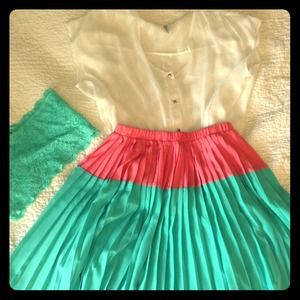 Everly two toned skirt