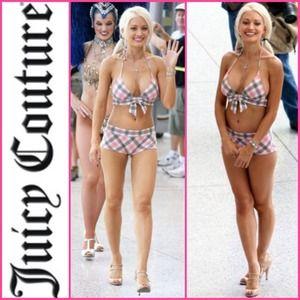 JUICY COUTURE Plaid Bikini HOLLY MADISON