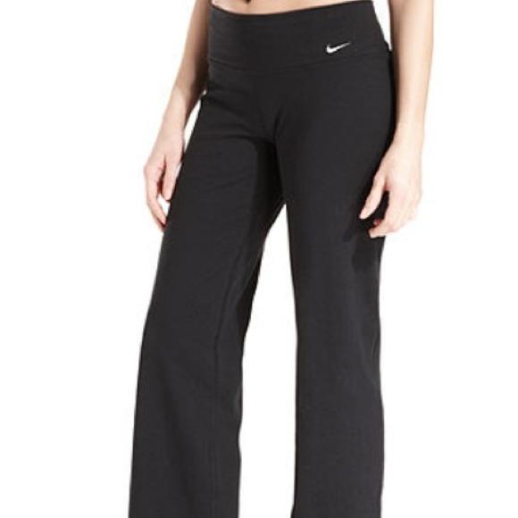 82% off Nike Pants - Nike wide leg boot cut yoga pant from Liz's ...