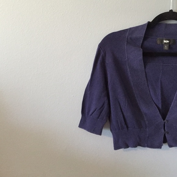 Mossimo Supply Co. - Navy Blue Cropped Cardigan from Jenn's closet ...