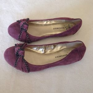 Plum colored suede flats