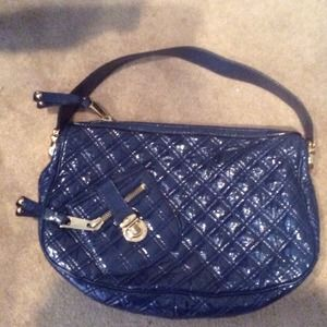 Marc Jacobs Midnight Blue Patent Ursula Hobo