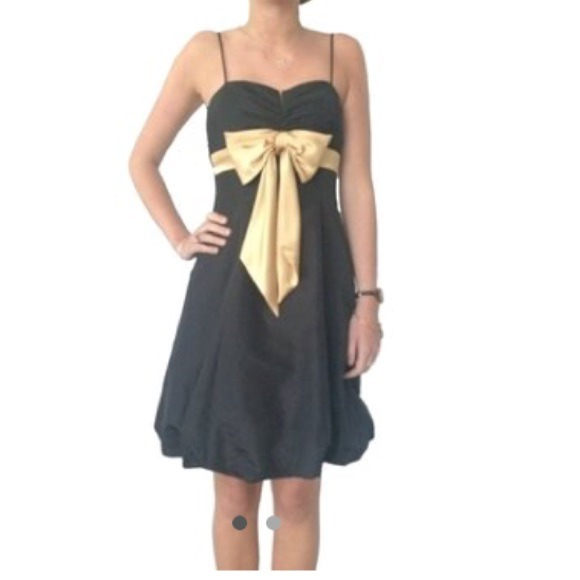 Lord Taylor Dresses Lord Taylor Black And Gold Formal Dress