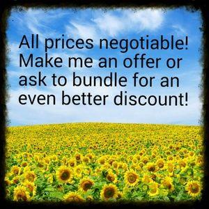 I love offers! Make an offer or bundle!