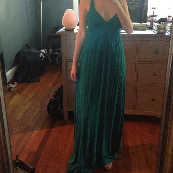 Lucky Brand - Dark teal maxi dress from Shauna's closet on Poshmark