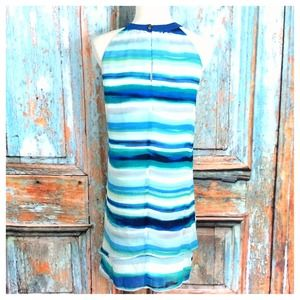 Dresses - Blues/Navy/Aqua Striped Dress 2