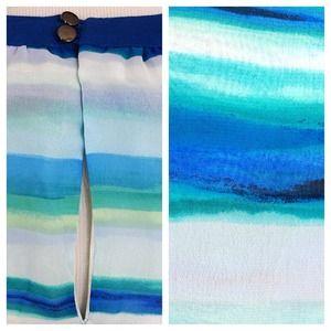 Dresses - Blues/Navy/Aqua Striped Dress