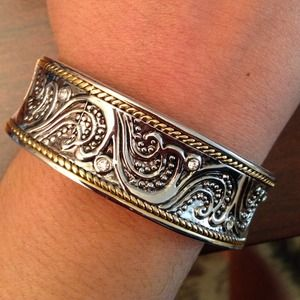 Jewelry - Silver and gold plated bangle 😃