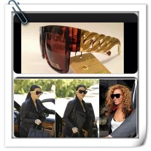 Celeb inspired chain link sunglasses