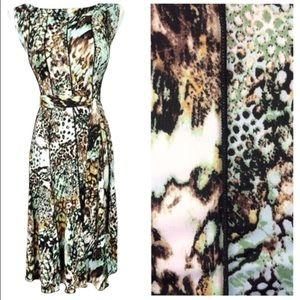Alligator Print Tie-Waist Dress