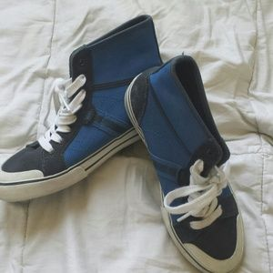 Vans Shoes - VANS blue high tops