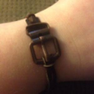 Brown buckle bracelet