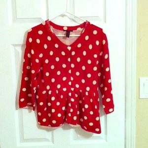 White polka dot sweater