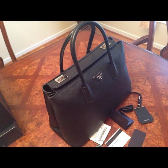 black prada handbags - prada saffiano cuir leather tote