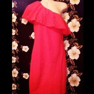 *Half sleeve salmon pink summer dress!*