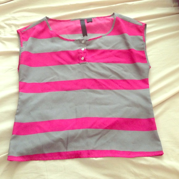 72% off Tops - Grey and pink shirt ((on hold)) from Shannon's ...