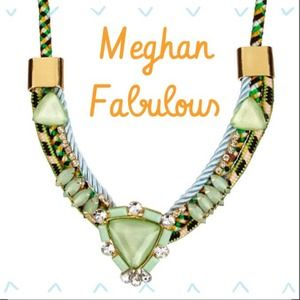 meghan fabulous Jewelry - Meghan Fabulous Green statement Necklace