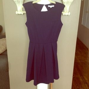 Backless navy dress