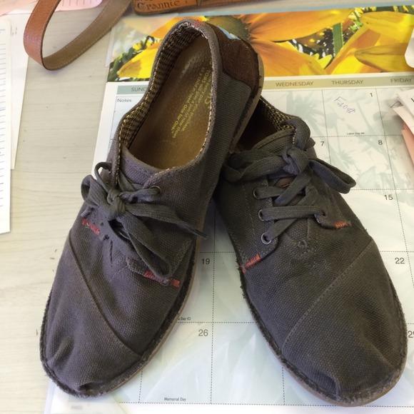 Toms Mens Lace Up Shoes