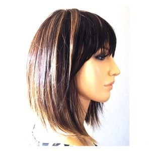 New with tags highlighted brunette wig