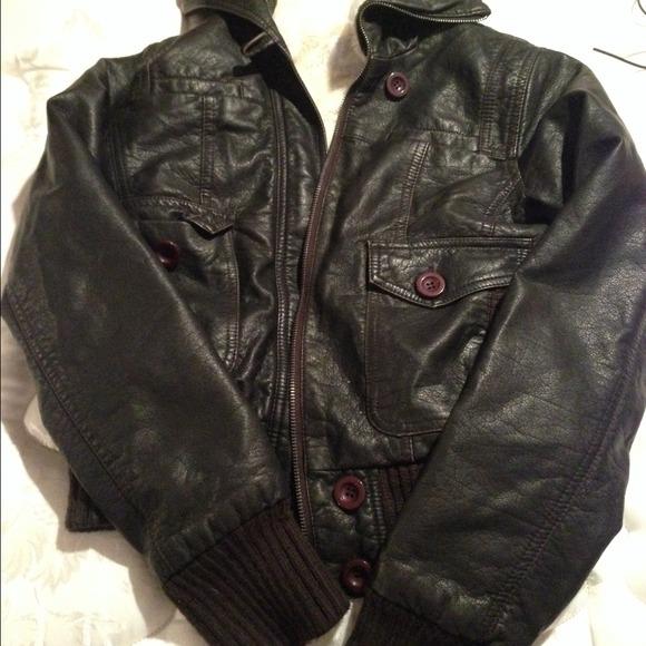 Target Jackets Coats Black Furry Faux Leather Jacket Target