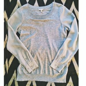 Joie Tops - 🎉7-17 HP🎉Joie grey pullover with silk sleeves